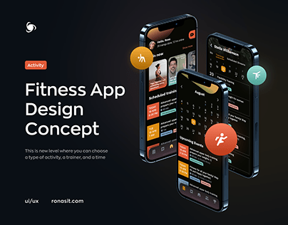 Fitness Buddy - Fitness Mobile App   Fit at Home UI/UX