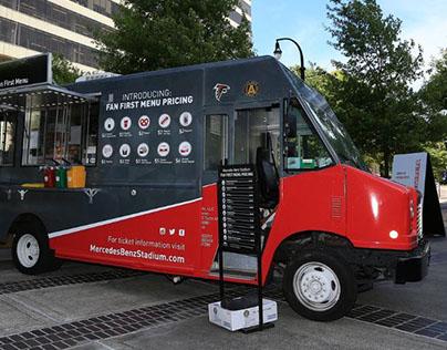 Mercedes-Benz Stadium Food Truck Wrap