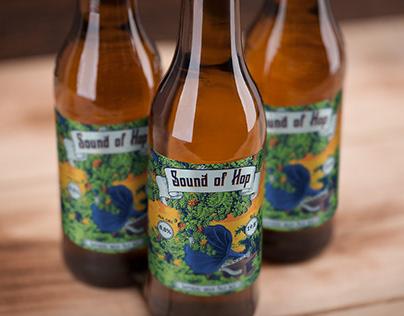 Sound of Hop / craft beer label