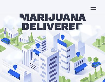 Marijuana marketplace app promo