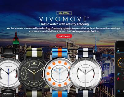 vívomove | Garmin Analog Watch with Activity Tracking