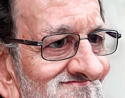 Mariano Rajoy digital painting caricature
