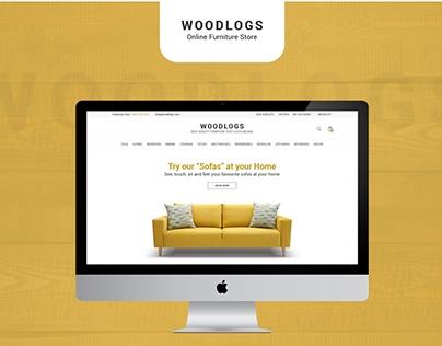 Woodlogs | Online Furniture Store | Website Design