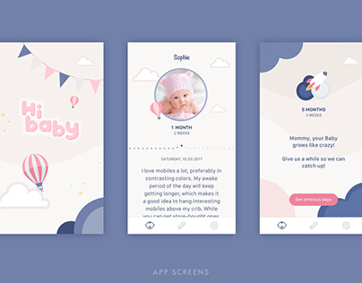 HiBaby | brand, illustration, UI & UX