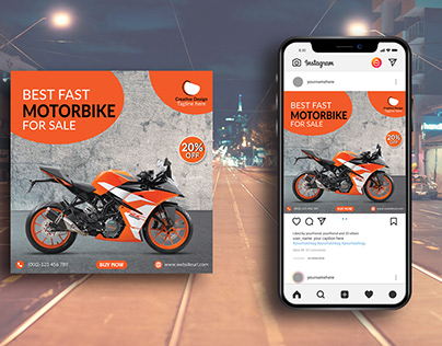 Social Media Bike Post Template