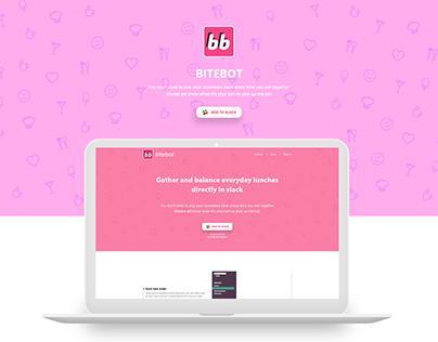 Bitebot - Slack bot Landing Page Design