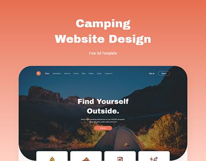 Camping Website Design