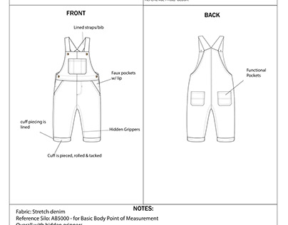 Tech pack samples. Copyrights: Carters Inc.