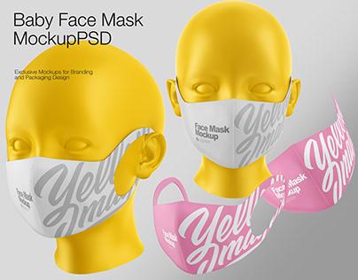 Baby Face Mask Mockup