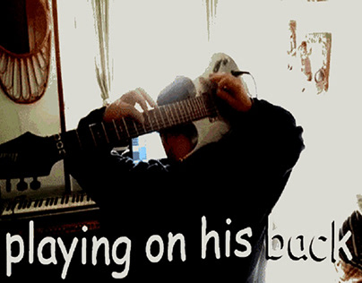 Playing in his back