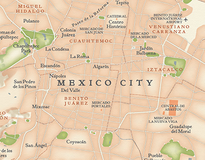 Mexico City map for James Oseland's World Food