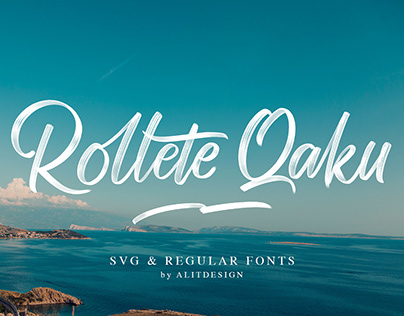 Rollete Qaku SVG & Regular Fonts