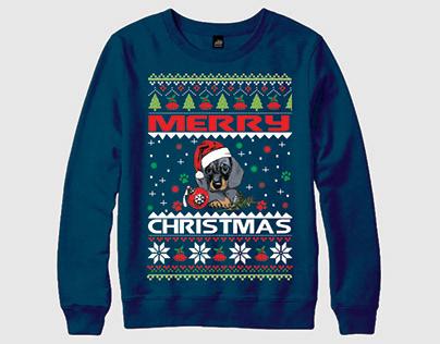 Merry Christmas, Dog Christmas Ugly Sweater T-shirt