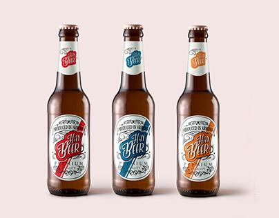 """""""Hay Beer"""" branding"""