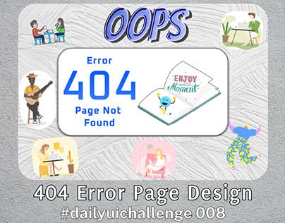 404 Error Page Design - #dailuichallenge 008