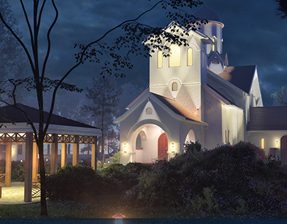 Church architectural visualization