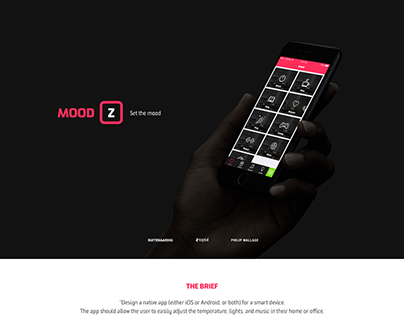 MOODZ set the mood Native iOS app