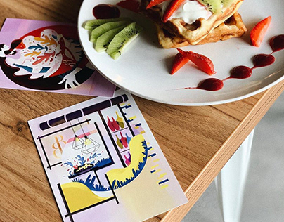 illustrations for espresso bar B&B   otruta agency