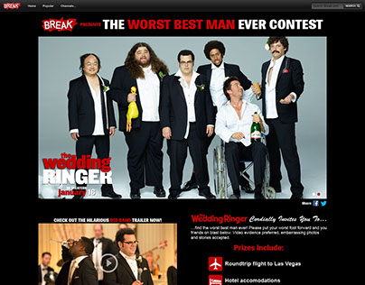The Wedding Ringer Micro Site