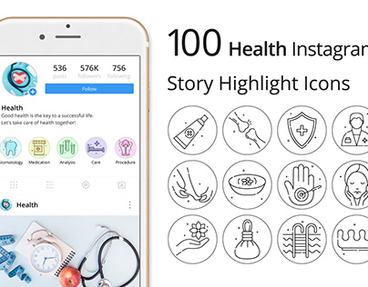 Health Instagram Story Highlight Icons