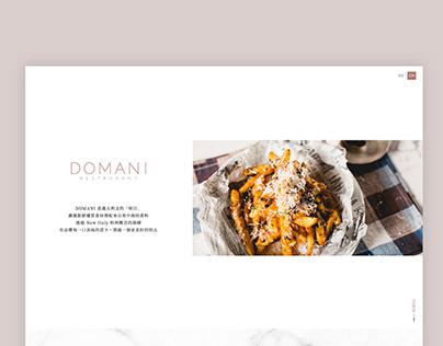 DOMANI   網站改版設計