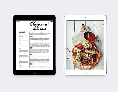 Tablet Simple Food Magazine