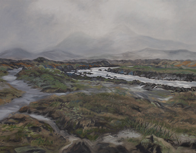 Scotland 2 (rain), oil on canvas, 70 x 100 cm