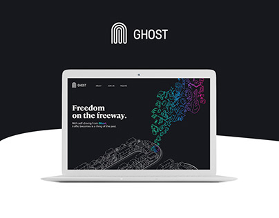 Ghost Landing Page Design