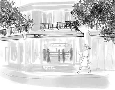 【client work】web site illustration