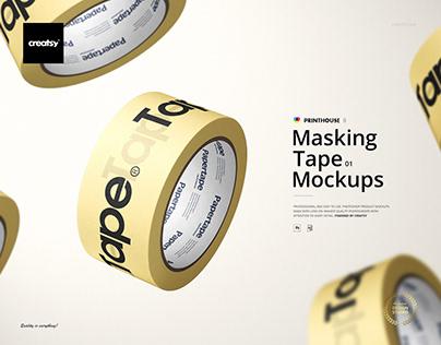 Masking Tape Mockup Set 01