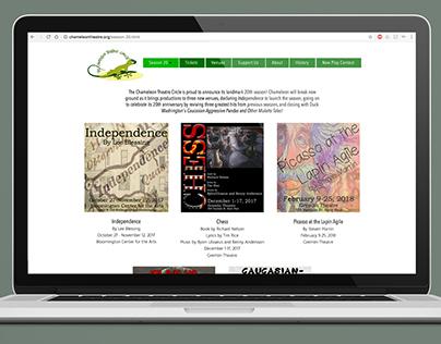 The Chameleon Theatre Circle - Website Design
