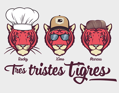 Tres tristes tigres Illustration
