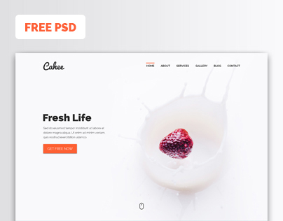 Cahee - FREE Template PSD