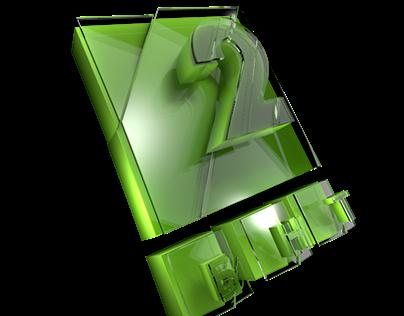 3D logo animated БНТ 2