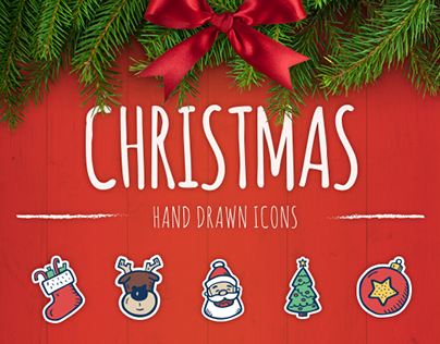 Christmas - Hand Drawn Icons