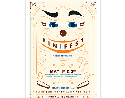 Pinfest Pinball Tournament Poster