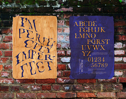 I'm perfectly imperfect typography poster design
