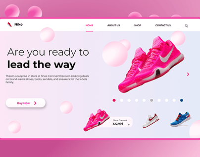 Landing Page design for Shoe
