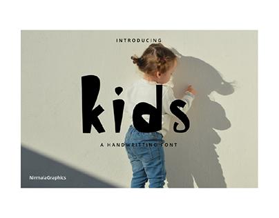 Kids - A Handwritting Font