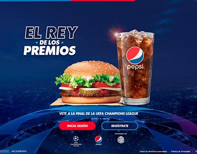 EL REY DE LOS PREMIOS | PEPSI + BURGER KING
