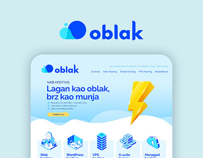 oblak.host Branding & Web Design