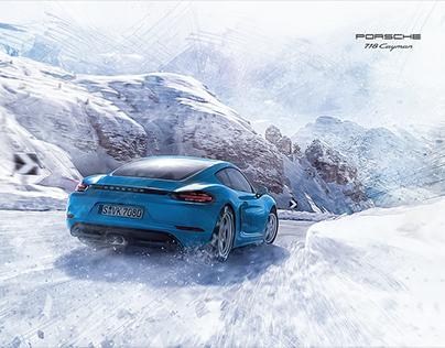 Digital art - Porsche 718