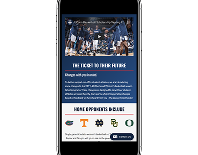 UConn Athletics Ticket Microsite