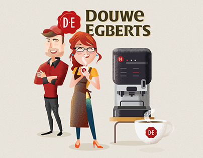 DE Coffee Brand Illustrations