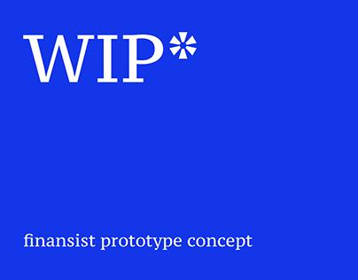 Finansist concept (prototype stage)