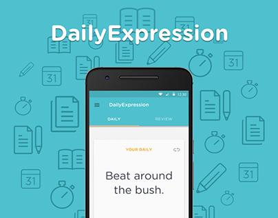 DailyExpression | Mobile App Design — 2015