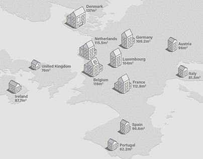 The UK's shrinking house sizes: infographics