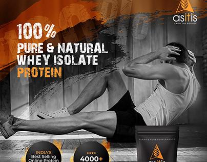 Asitis whey protein fb ad design