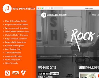 Music WordPress Theme - Features VM