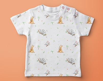 Australian Animal Pattern for kids apparel